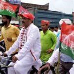 गोंडा 05 अगस्त *पूर्व मंत्री योगेश प्रताप सिंह के नेतृत्व में निकाली गई साइकिल रैली*